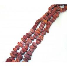 №12 коралл лом.розовый крупный, нитка