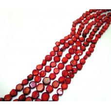 №32 граненый т.красный,нитка
