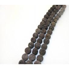 Лава d 18-19мм св.коричневая, нитка 36см