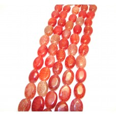 Арт.№55 камень натур. овал d 24x17мм, цвет в ассортименте, нить 38см.