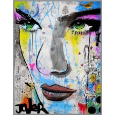 F-184 Картина ( Art woman) Алмазная мозаика 35x45,  35 цветов