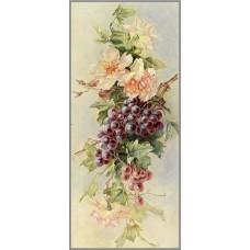 F-276 Картина (Виноградная лоза) Алмазная мозаика 25x55 см,34 цвета