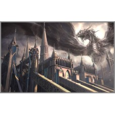 F-354 Картина (Замок дракона) Алмазная мозаика 40x30 см, 35 цветов