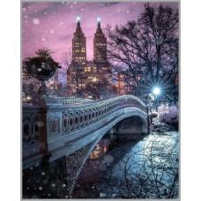 F-387 Картина (Волшебный вечер) Алмазная мозаика 40x50см, 45 цветов