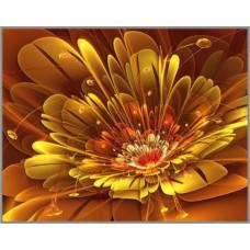 ML-19 Алмазная мозаика на подрамнике (Золотая фантазия) 50x40см, 35 цветов