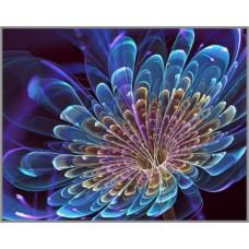 ML-55 Алмазная мозаика на подрамнике (Синяя фантазия) 50x40см, 35 цветов