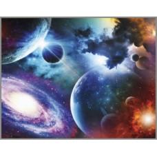 ML-9 Алмазная мозаика на подрамнике (Мир космоса) 50x40см, 33 цвета