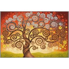 N-132/1 Картина (Дерево счастья) Алмазная мозаика   29x20см, 23 цвета