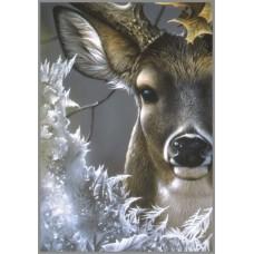 N-157 Картина (Первый мороз) Алмазная мозаика   20x29см, 23 цветов