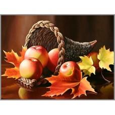N-250 Картина (Осенний пейзаж) Алмазная мозаика 29x20см, 18 цветов