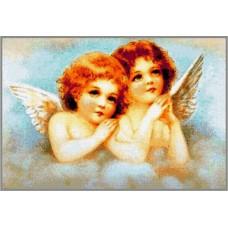 N-289 Картина (Ангелочки) Алмазная мозаика 28x19см, 21 цвет