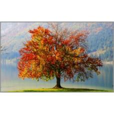 N-292 Картина (Древо жизни) Алмазная мозаика 28x18см, 25 цветов