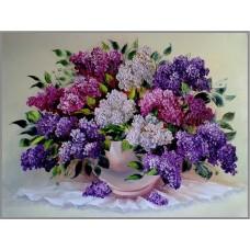 N-319 Картина (Букет сирени) Алмазная мозаика  26x20см, 30 цветов