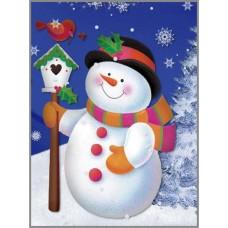N-325 Картина (Снеговик) Алмазная мозаика  20x27см, 31 цвет