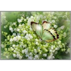 NR-7 Картина (Весенняя радость) Алмазная мозаика 29.5x20.5см, 25 цветов