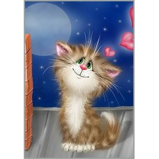 NR-79 Картина (Мартовский кот) Алмазная мозаика 29.5x20.5см, 33 цветов