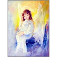 O-576 Картина (Печальный ангел) Алмазная мозаика 30x40см, 35 цветов