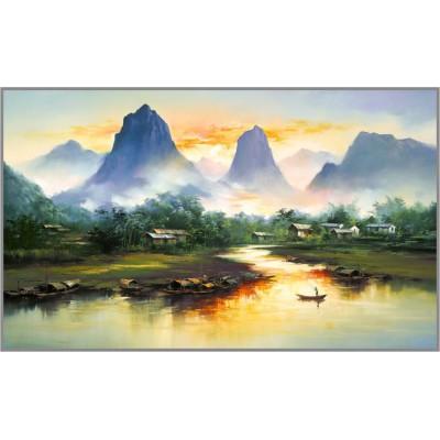 R-717 Картина (Провинция Яншо) Алмазная мозаика  60х34 см, 38 цветов