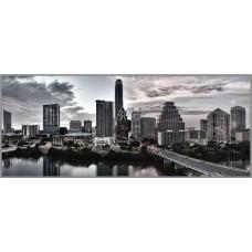 R-936х Картина (Панорама города) Алмазная мозаика 70x29см, 28 цветов