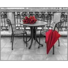 SP-367 Алмазная мозаика на подрамнике (Красный штрих) 40x30 см, 27 цветов