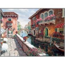 Z-157 Картина (Венеция) Алмазная мозаика 60x45см, 37 цветов