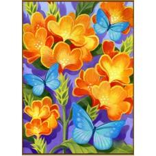 N-164x Картина (Бабочки синие) Алмазная мозаика 20x27см, 18 цветов
