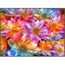 N-112x Картина (Вальс цветов) Алмазная мозаика 27x20см, 31 цвет