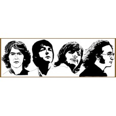 N-233x Картина (The Beatles) Алмазная мозаика 28x11см, 14 цветов