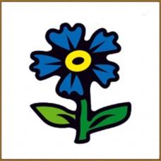 Мозаика на магните (Синий цветочек) 10x10 см, 15 цветов