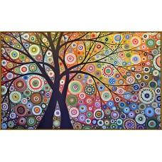 N-130/1 Картина (Райский сад) Алмазная мозаика  29x20см, 22 цвета