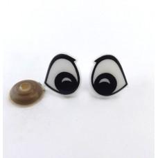 E286-1001 Глазки винтовые d 17x18мм, бело-черные