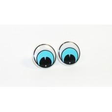 E306-201 Глазки винтовые d 16мм, бело-голубые