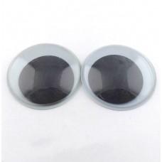 Глазки круглые бегающие d22мм, черно-белые
