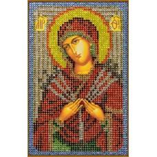 Картина(Богородица Семистрельная) стразы стекло-термоклеевые 20x28см.,13цв.