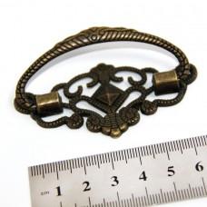 Ручка для шкатулок(уп.-2шт)72x38мм,бронза