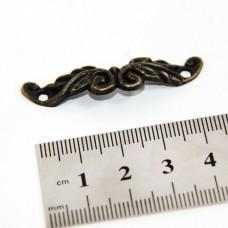 Ручка для шкатулок-скоба(уп.-2шт.)45мм.бронза